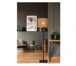 Afbeelding van product: Selected by Magius vloerlamp Ø42 cm metaal/rotan zwart/naturel