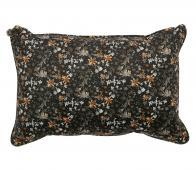BePureHome Vogue kussen 40x60 cm velvet aquarel flower zwart
