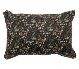 Afbeelding van product: BePureHome Vogue kussen 40x60 cm velvet aquarel flower zwart