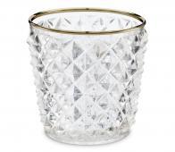 vtwonen decoratie glas waxinelichthouder, div afm. ø 7,5 x h 7,5 cm