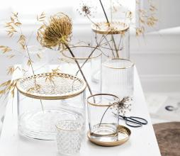 Afbeelding van product: vtwonen decoratie glas waxinelichthouder, div afm. ø 7,5 x h 7,5 cm