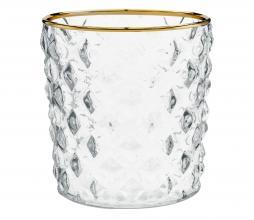 Afbeelding van product: vtwonen decoratie glas waxinelichthouder, div afm. ø 9,5 x h 10 cm