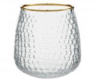 vtwonen decoratie glas waxinelichthouder H 10 cm ø 9,5 x h 10 cm