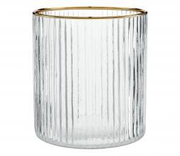 Afbeelding van product: vtwonen decoratie glas waxinelichthouder ø 10 x h 11 cm ø 10 x h 11 cm