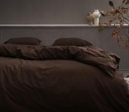 Afbeelding van product: Essenza Guy dekbedovertrek katoen chocolade div. afmetingen 2-persoons 200x220 cm