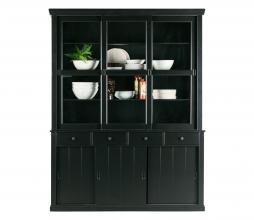 Afbeelding van product: WOOOD Lagos winkelkast 215x166x48 cm grenen zwart