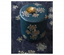 Afbeelding van product: Essenza Lauren poef Ø40 cm velvet indigo blue