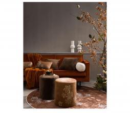 Afbeelding van product: Essenza Lauren poef Ø40 cm velvet cinnamon