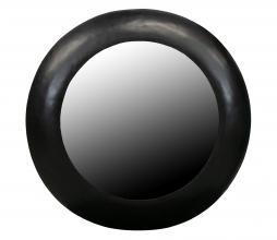 Afbeelding van product: WOOOD Exclusive Wolf spiegel metaal zwart div. afmetingen ø75 cm