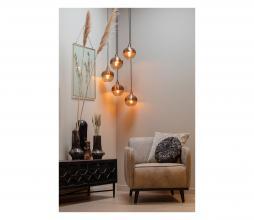 Afbeelding van product: BePureHome Sultry hanglamp glas geborsteld ijzer ø17cm bruin