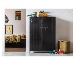 Afbeelding van product: WOOOD Dennis bed 90x200 cm grenen (exl. lade) zwart