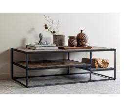 Afbeelding van product: WOOOD Vic salontafel 120x60 cm hout/metaal bruin/zwart