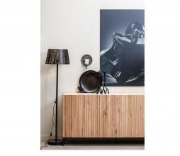 Afbeelding van product: WOOOD Exclusive Keto vloerlamp metaal antique brass/zwart