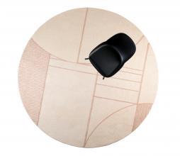 Afbeelding van product: Zuiver Bliss vloerkleed Ø240 cm naturel/roze