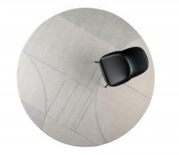 Afbeelding van product: Zuiver Bliss vloerkleed Ø240 cm grijs/blauw