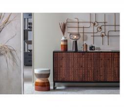 Afbeelding van product: BePureHome Glazed kruk keramiek 43xø33cm chestnut
