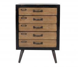 Afbeelding van product: Dutchbone Sol M ladenkast 63x46x38 cm hout bruin/zwart