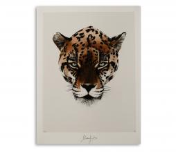 Afbeelding van product: Selected by Wealth Leopard kunstposter 30x40 cm