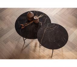 Afbeelding van product: WOOOD Exclusive Vida bijzettafel 48 x ø60 cm marmer look porselein zwart