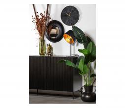 Afbeelding van product: WOOOD Exclusive Wolf spiegel metaal zwart div. afmetingen ø50cm
