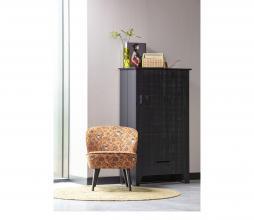 Afbeelding van product: WOOOD Gijs boerenkast 142x85x38 cm grof bezaagd grenen zwart