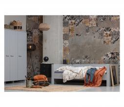 Afbeelding van product: WOOOD Dennis bedbank 90x200 cm grenen (excl. lade) betongrijs