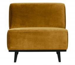 Afbeelding van product: BePureHome Statement fauteuil velvet honing geel