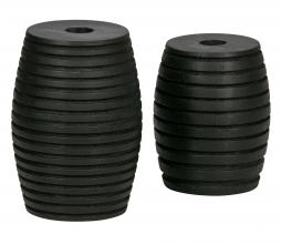 Afbeelding van product: WOOOD Exclusive Zuri kandelaren set van 2 hout zwart