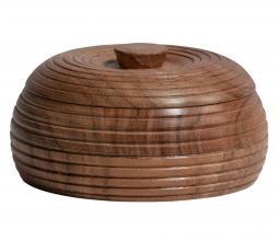 Afbeelding van product: BePureHome Vessel opbergpot div. afmetingen hout bruin 6xø11cm