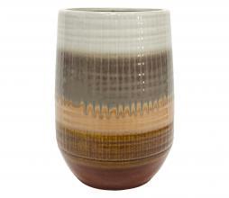 Afbeelding van product: BePureHome Lava vaas keramiek 28xø19cm chestnut