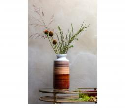 Afbeelding van product: BePureHome Decennia vaas 30xø14cm keramiek chestnut multicolor