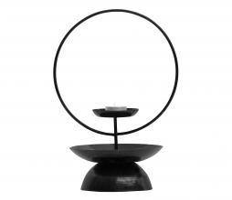Afbeelding van product: BePureHome Level kandelaar div. afmetingen metaal zwart 31 cm