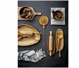 Afbeelding van product: Selected by Nature snijplank div. afmetingen acaciahout bruin 26,5 x 55 cm