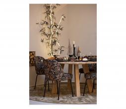 Afbeelding van product: BePureHome Vogue eetkamerstoel velvet bouquet zwart
