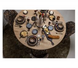 Afbeelding van product: BePureHome Vogue eetkamerstoel velvet - bouquet zwart