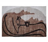 WOOOD Exclusive Roden wand/vloerkleed 170x240 cm bruin/beige/zwart