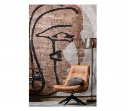 Afbeelding van product: WOOOD Exclusive Roden wand/vloerkleed 170x240 cm bruin/beige/zwart