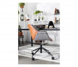 Afbeelding van product: Zuiver Doulton bureaustoel grijs/cognac