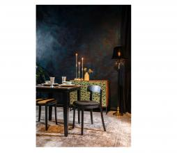 Afbeelding van product: Dutchbone Cresta vloerlamp metaal/velvet zwart/goud