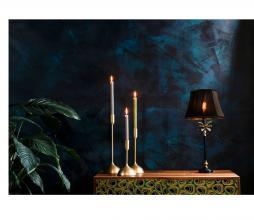 Afbeelding van product: Dutchbone Cresta tafellamp metaal/velvet zwart/goud