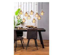 Afbeelding van product: Selected by Rakel hanglamp 10L glas antiek brons-smoke