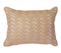HKliving Patches kussen 30x40 cm nude/zilver