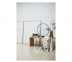 Afbeelding van product: HKliving Lines plaid 130x170 cm off-white/zwart