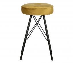 Afbeelding van product: WOOOD Bella kruk velvet geel