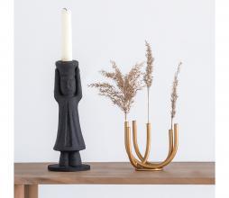 Afbeelding van product: Selectedby Kandelaar Mulher ecomix h 26 cm zwart