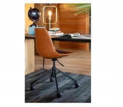 Afbeelding van product: Dutchbone Franky bureaustoel PU-leer cognac