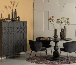 Afbeelding van product: BePureHome Admit eetkamerstoel velvet zwart