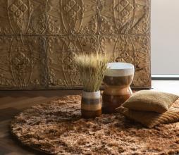 Afbeelding van product: BePureHome Praline vloerkleed ø200 cm syrup