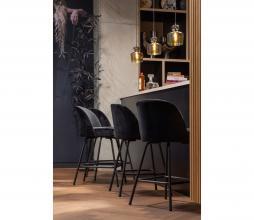 Afbeelding van product: BePureHome Vogue barstoel velvet zwart 65 cm