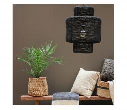 Afbeelding van product: Selected by Janine lampenkap dubbele cilinder L rotan zwart